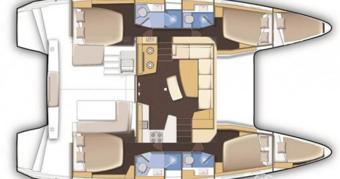Noleggio Catamarano con o senza skipper Lagoon a Galátsi