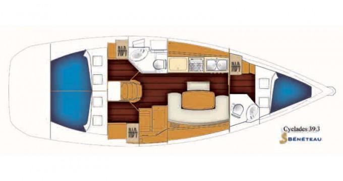 Noleggio Barca a vela a Rogač – Bénéteau Beneteau Cyclades 39.3