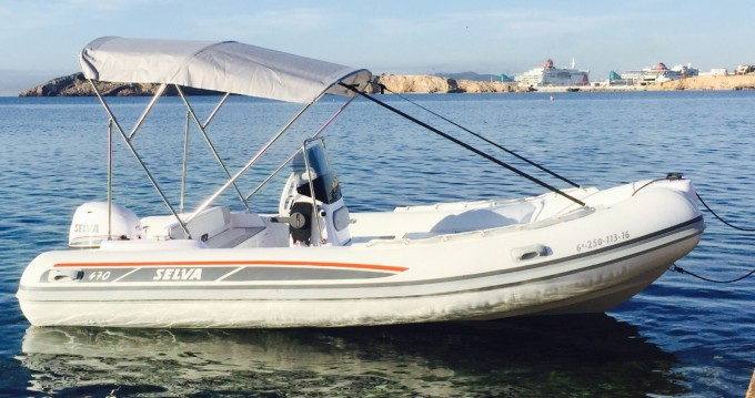 Noleggio barche Ibiza Town economico Selva D470 AUXILIAR O TENDER