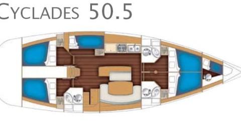Noleggio barche Bénéteau Cyclades 50.5 a Göteborg socken su Samboat