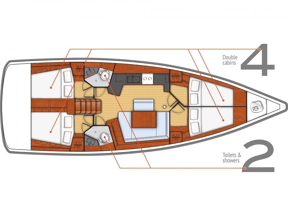 Noleggio yacht  - Bénéteau Oceanis 45 (4 cabs) su SamBoat