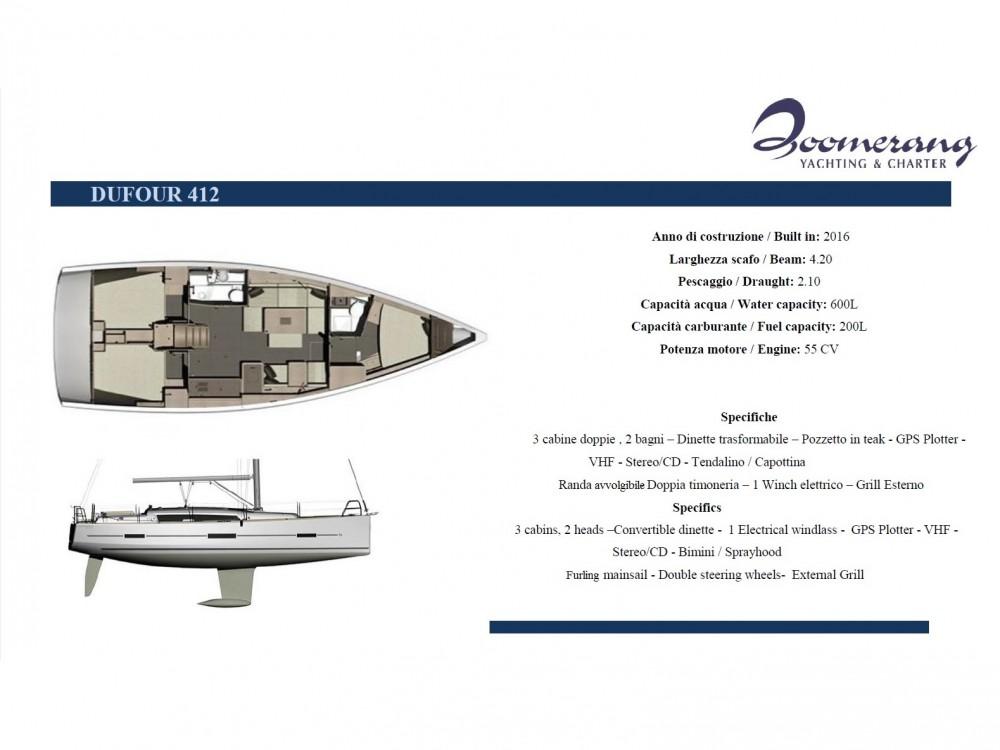 Noleggio barche Dufour Dufour 412 GL Marina di Portisco su Samboat