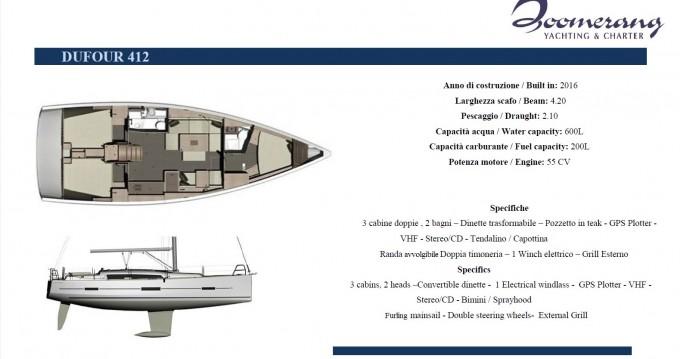 Noleggio Barca a vela a Marina di Portisco – Dufour Dufour 412 Grand Large