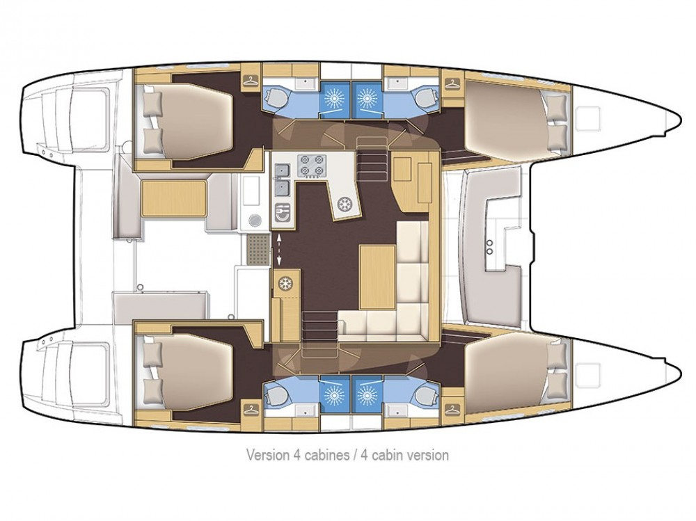 Noleggio yacht Sebenico - Lagoon Lagoon 450 F su SamBoat