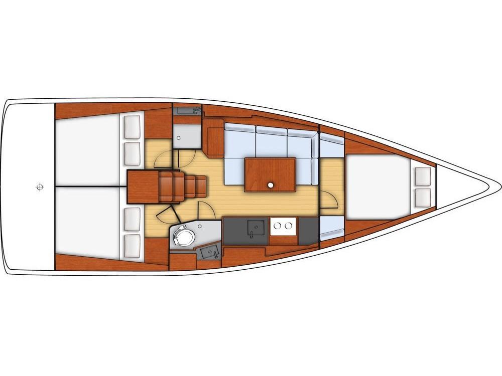 Noleggio barche Sebenico economico Oceanis 38