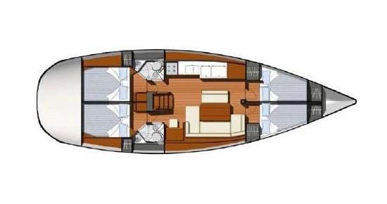 Noleggio Barca a vela a Atene – Jeanneau Jeanneau - Sun Odyssey 44