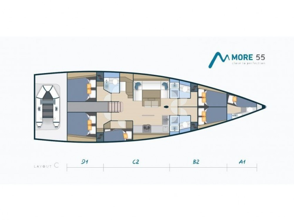 Noleggio barche Kaštel Gomilica economico More 55