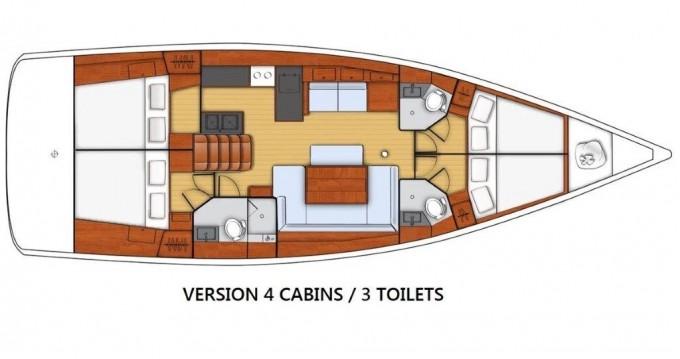 Noleggio Barca a vela a Kaštel Gomilica – Bénéteau Oceanis 48