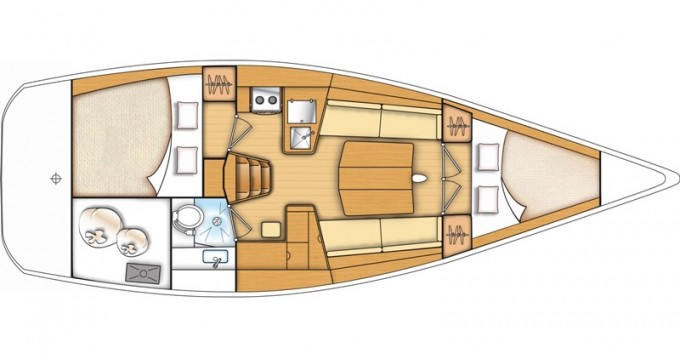 Noleggio Barca a vela a Kaštel Gomilica – Bénéteau First 35