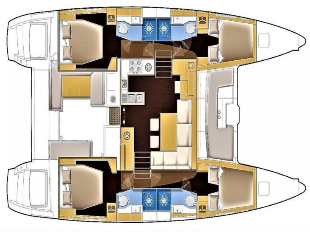 Noleggio barche Sant Antoni de Portmany economico Lagoon 450