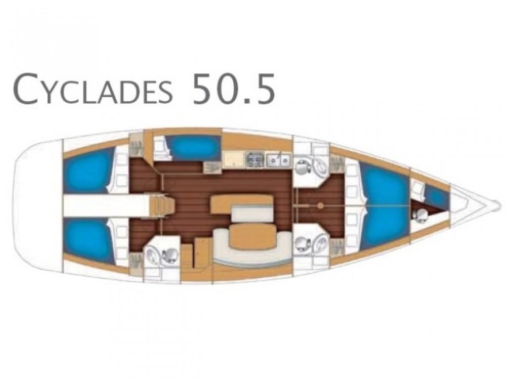 Noleggio yacht  - Bénéteau Cyclades 50.5 su SamBoat