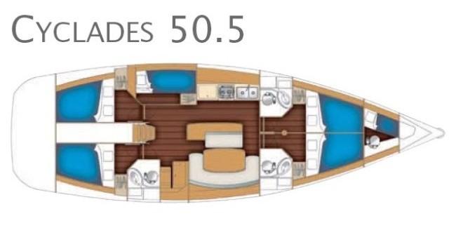 Noleggio barche Marina di Portorosa economico Cyclades 50.5