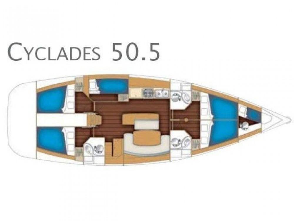 noleggio Barca a vela Furnari - Bénéteau Cyclades 50.5