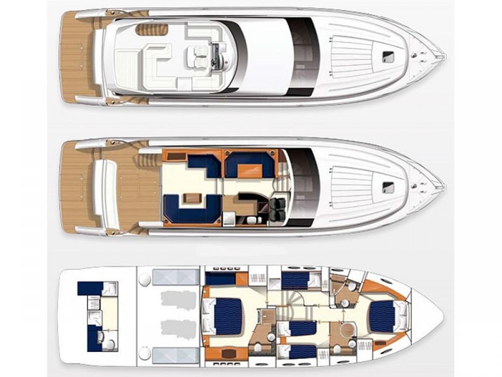 noleggio Yacht Spalato - Princess Princess 62