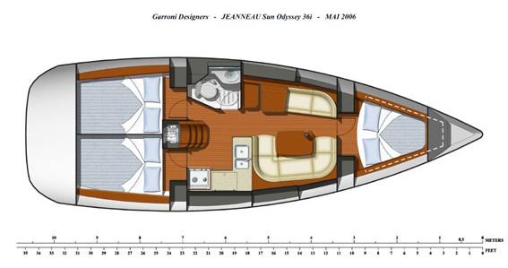Noleggio Barca a vela a Kortgene – Jeanneau Sun Odyssey 36i