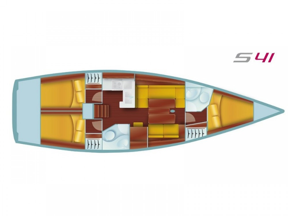 Noleggio Barca a vela Salona con una patente