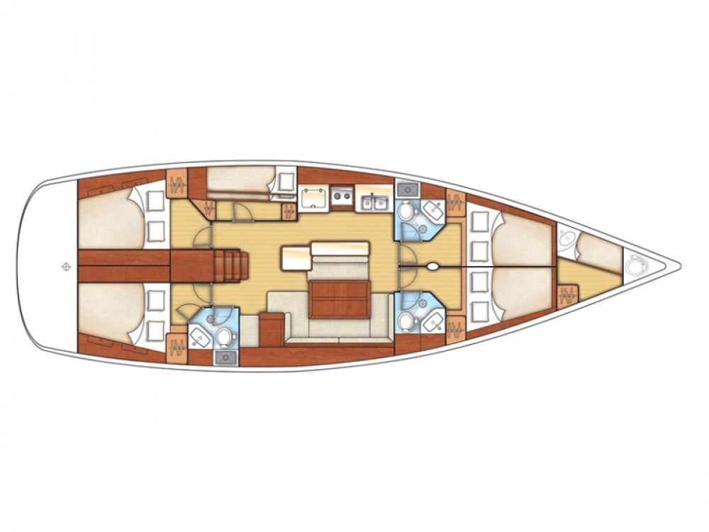 Noleggio barche Follonica economico Oceanis 50 Family
