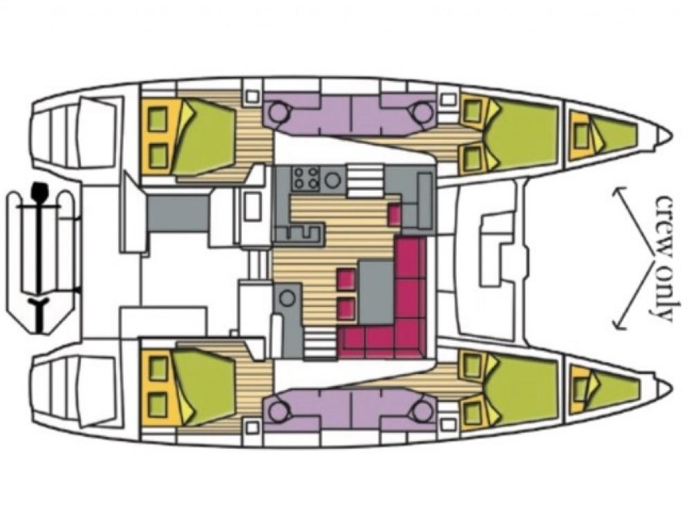 Noleggio barche Cala dei Sardi economico Lagoon 450F