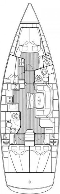 Noleggio barche Croazia economico Cruiser 46