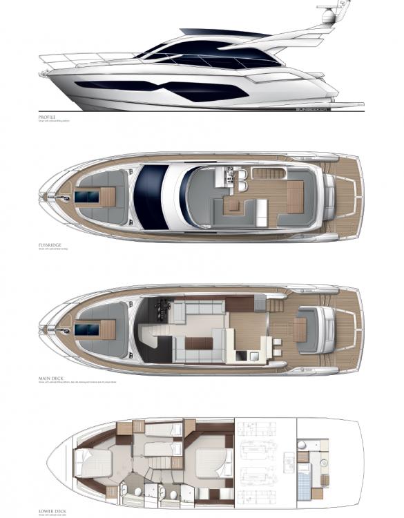 Noleggio yacht Croazia - Sunseeker-International Sunseeker Manhattan 52 su SamBoat
