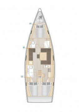 Noleggio Barca a vela Hanse con patente nautica