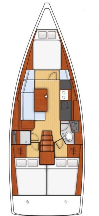 Noleggio barche Sardegna economico Oceanis 38.1