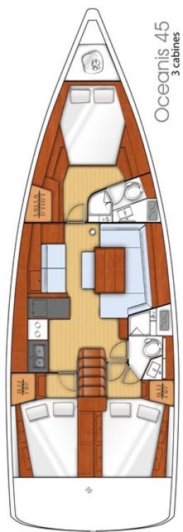 Noleggio yacht Göcek - Bénéteau Oceanis 45 su SamBoat