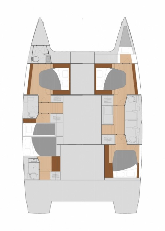 Noleggio yacht Traù - Fountaine Pajot Saona 47 su SamBoat