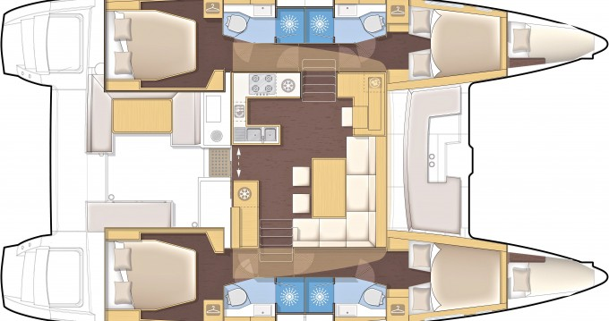 Noleggio yacht a Sebenico – Lagoon Lagoon 450 su SamBoat