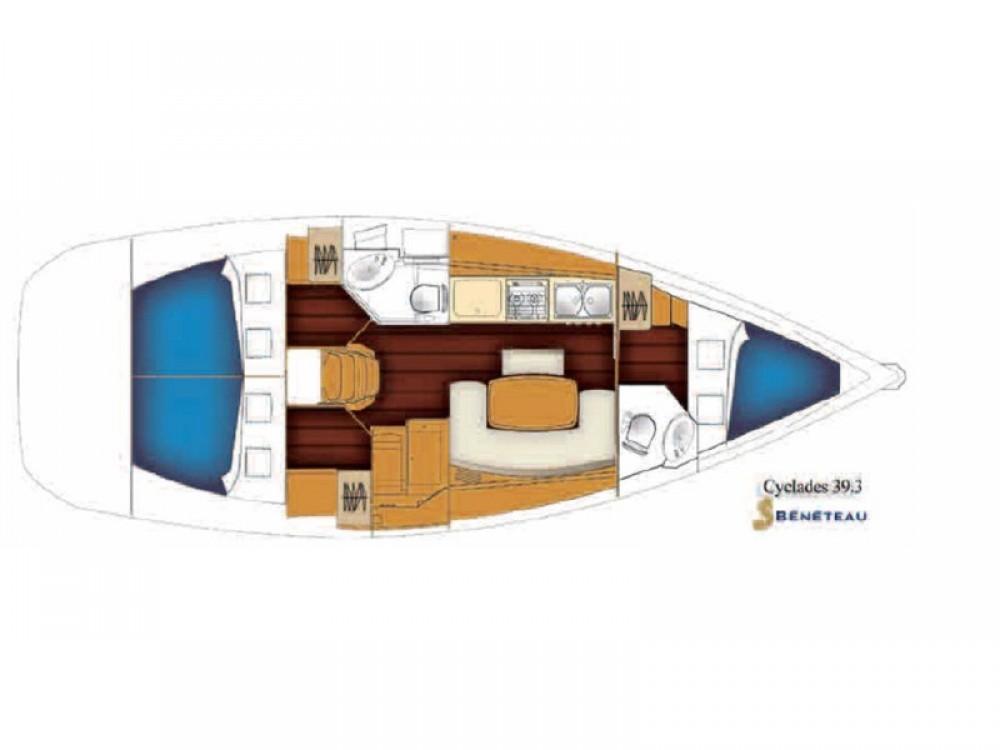 Noleggio barche Bénéteau Cyclades 39.3 Álimos su Samboat