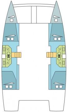 Catana Bali 4.3 - 4 + 2 cab. tra privati e professionisti a Napoli